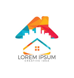 home logo design vector image