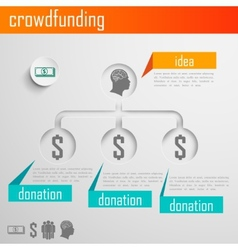 Infographic crowdfunding for web or print design vector