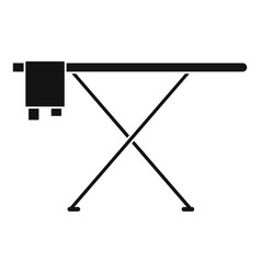 ironing board icon simple style vector image
