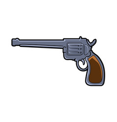 Isolated comic gun vector