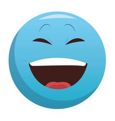 Laugh chat emoticon vector