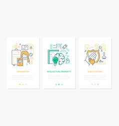 legal services - modern line design style web vector image