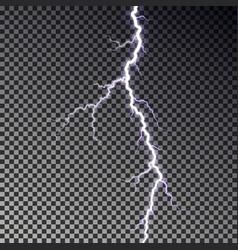 Lightning bolt isolated on dark checkered backgrou vector