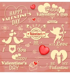 Love label for Valentines day decoration vector image