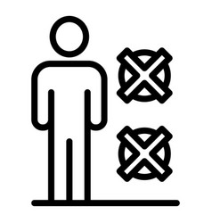 Man no restriction icon outline style vector