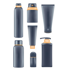 mens cosmetic tubes vector image