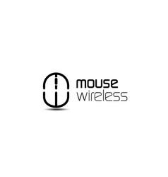 Mouse wireless logo concept vector