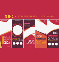 multipurpose roll up banner 2 vector image
