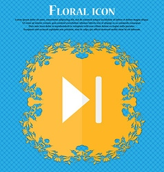 Next track Floral flat design on a blue abstract vector