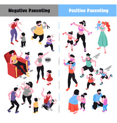 Parenting icons set vector