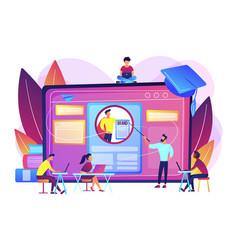 Personal branding course concept vector