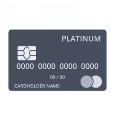 Platinum Debit Card vector
