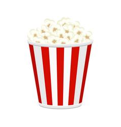 Popcorn bucket full of popcorn items vector