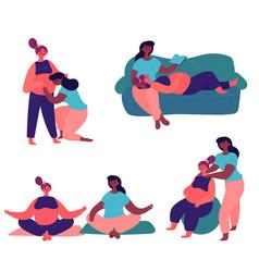 pregnant lesbian couple vector image