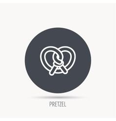 Pretzel icon bakery food sign vector