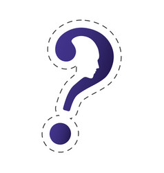 question mark shape head image vector image