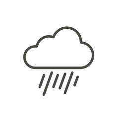 rain cloud icon line raindrop symbol vector image