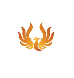 Raise phoenix logo vector