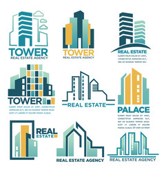 Real estate agency or company skyscrapers vector