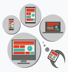 Responsive web design for different devices vector