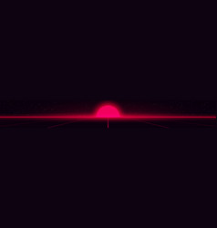 Retrowave style red glowing vector