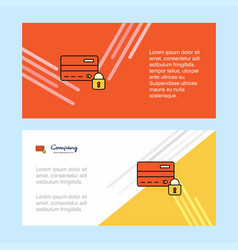 secure credit card abstract corporate business vector image