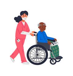 senior patient an elderly african american man in vector image