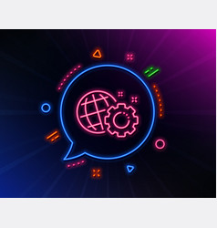 seo gear line icon internet settings sign vector image