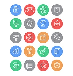 Set of Gamification Icons vector image