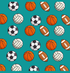 Set of sport games background vector