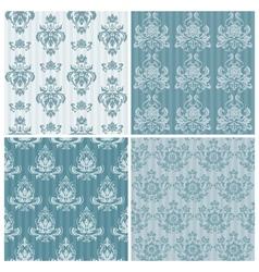 set ornamental damask vector image