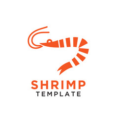 simple shrimp logo design template isolated vector image