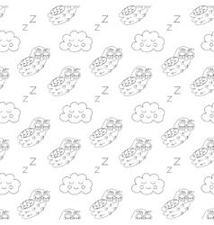Sleep owlet seamless pattern vector