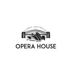 Sydney opera house logo vector