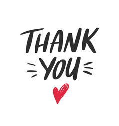 thank you lettering quote phrase greeting vector image