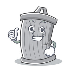 Thumbs up trash character cartoon style vector