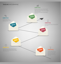 Time line info graphic with design letter vector