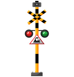 Train sign with red and green light vector