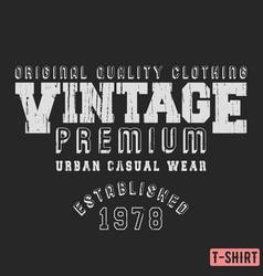 Vintage premium t-shirt stamp vector