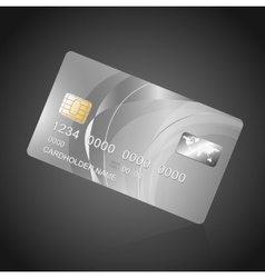 VIP Card silver on black vector