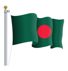 waving bangladesh flag isolated on a white vector image