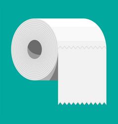 White roll toilet paper vector