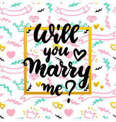 will you marry me concept vector image