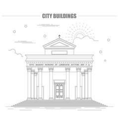 City buildings graphic template Italian basilica vector image