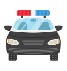 police car flat icon transport and automobile vector image