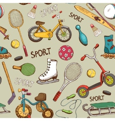 sports and action games pattern vector image vector image