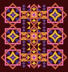 Vintage single pattern ornaments vector