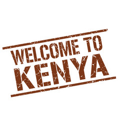 welcome to kenya stamp vector image