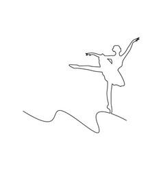 ballerina dancing curved line vector image