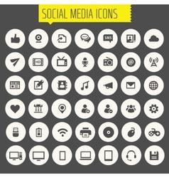 Big Social Media icon set vector image